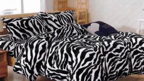 Lenjerie pat 2 persoane COCOLINO - 4 piese - Animal print, zebra ZAP-1008-12