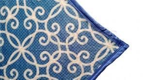 Patura 2 persoane COCOLINO - Albastru, imprimeu abstract modern